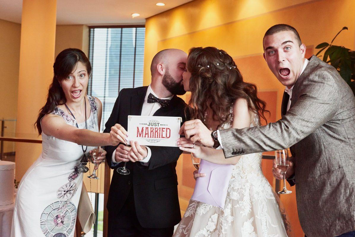 Сватбени снимки, гостите на сватбата